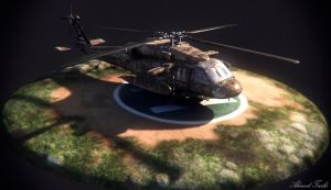 Helicopter Render by AhmadTurk
