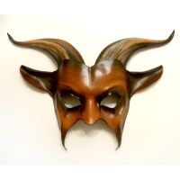 Leather Gopat Mask brown with black and tan by teonova