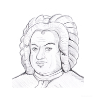 J. S. Bach Sketch by TheAmazingotter