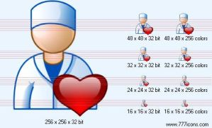 Cardiologist Icon by medical-icon-set