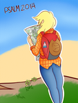 Backpacker AJ [Alphabet of Applejack] by Psalmie