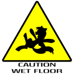Caution: Wet Floor ( Derpy / My Little Pony style) by InfinityDash