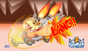 If PonyKart Had All-star Moves - Applejack by Blue-Paint-Sea