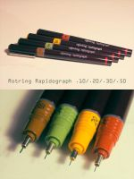 Rotring Rapidograph set by Bergspot
