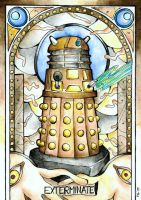 Stained Glass: Dalek by Scarlett-Winter