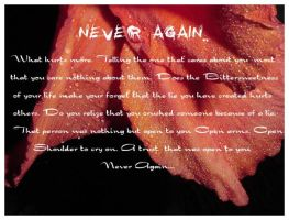 Never again by fithos