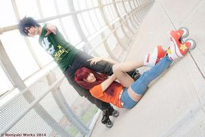 Air Gear | Storm and Thorn by MinamiKing