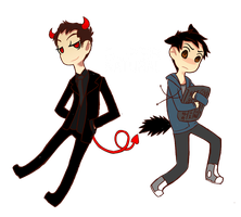 SPN: Kevin Tran and Crowley by AlmostMyself