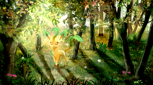 Leafeon by MeluuArts