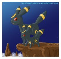 NEW YEAR: UMBREON by PEQUEDARK-VELVET