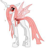 Lacewing the Albino Changeling by Faith-Wolff