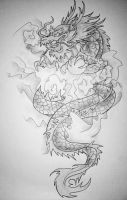 dragon tattoo design by lovexmyxlifex
