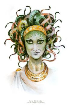 Medusa self-portrait by MeduZZa13