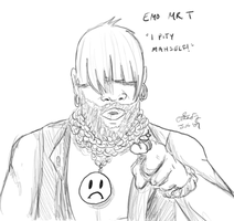 Emo Mr. T by chesney