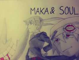 Maka and Soul by KurumiAiren