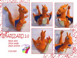 Charizard pokemon plush 2.0 handmade by chocoloverx3
