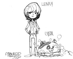 Lenny and pup by Alberto-Rios