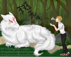 Commission: Natsume Yuujinchou by clumsydemonwithfire