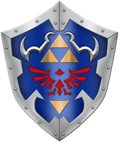 OOT Hylian Shield by BLUEamnesiac