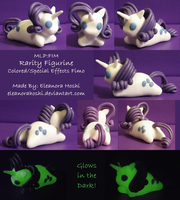 MLP Figurine: Rarity (Luminescent) by EleanoraHoshi