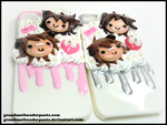 Puppy Love iPhone 5 Deco Cases by GrandmaThunderpants