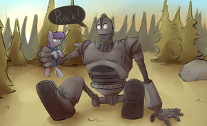 Maud Pie Iron Giant by MarsMiner