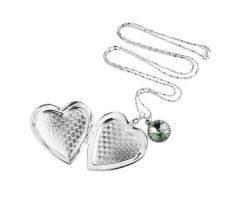Big Silver Heart Picture Locket Necklace by crystaland