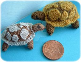1:12th scale tortoise toy by buttercupminiatures