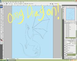 Dragon Bookcover WIP by bornahorse