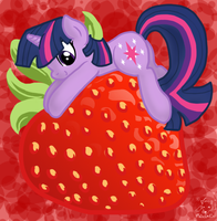 Twilight's Strawberry by mischakins
