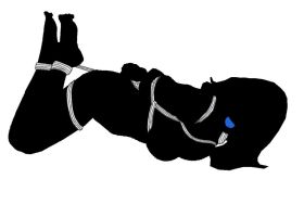 Black and white hogtie. by cordefr