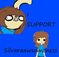 I Support silvaraawesomeness stamp! by rigbyfangirl23
