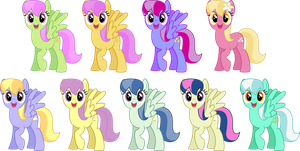 Cloud Kicker/Merry May Recolors by SilverVectors