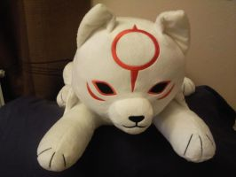 Okamiden Plush Pillow by Skunk-Mantra
