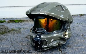 Halo 4 Master Chief Replica Helmet by JohnsonArms