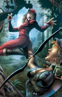 Robyn Hood vs Red Riding hood B by Yleniadn86