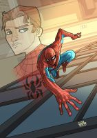 SPIDERMAN color by Soul-the-Awkward