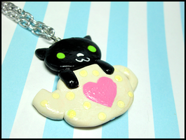 Cat Teapot Necklace by GrandmaThunderpants