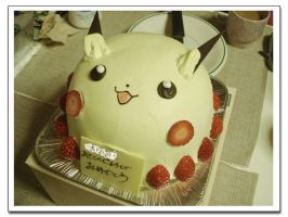 Pichu Cake by ZairoNishijima
