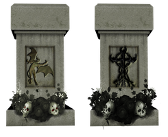 Spooky Grave Stones by mysticmorning