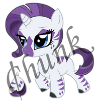Rarity x Zecora Offspring Adoptable by chunk07x