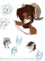 Old character sketchdump by Edheloth