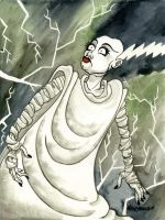 The Bride of Frankenstein by JoJo-Seames