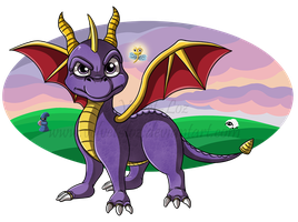 Spyro the Dragon by Velvet-Loz