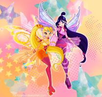 Winx club. Musa and Stella bloomix by fantazyme