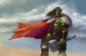 Orc with... kilt? by Psichodelic
