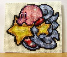 Kirby Cross Stitch by RedHerring1up