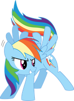 Rainbow Dash Lineart By 2bronies1hater Color by Neighthirst