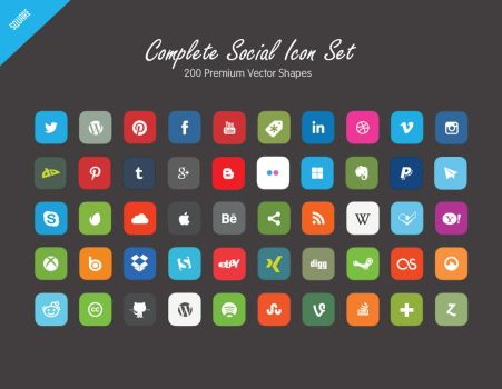 Complete Social Vectors  Set by C3CreativeSpace