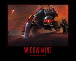 Starcraft II Heart of the Swarm Widow Mine by Onikage108